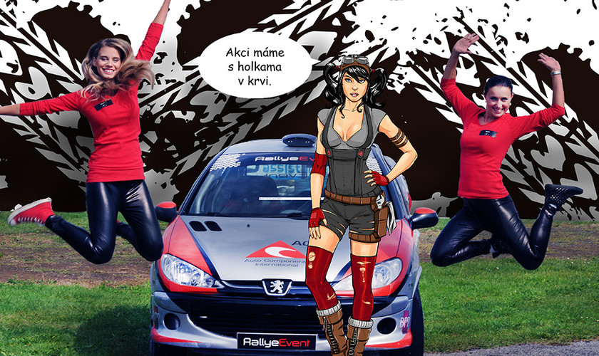 Komix racing day - hostesky